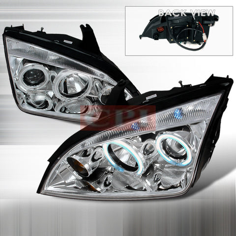 FORD 2005-2007 FORD FOCUS 4D ZX4 PROJECTOR HEAD LAMPS/ HEADLIGHTS 1 SET RH&LH   2005,2006,2007