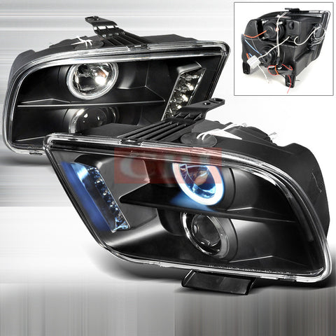 Ford 05-09 Ford Mustang Ccfl Projector Headlight-p