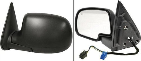 Chevrolet 2003-2007 Chevy Silverado Pickup Door Mirror LH Power Heated W/o Puddle Light w/ Textured Cap Folding