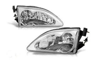 94-98 ford mustang cobra head light - chrome/clear performance