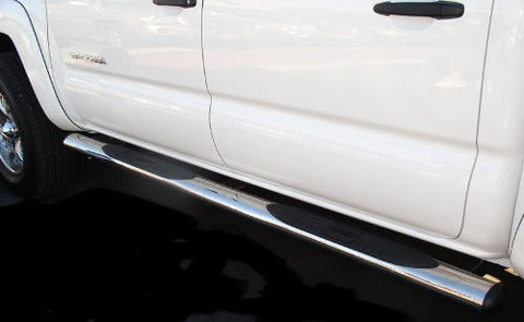 Toyota Tacoma Toyota Tacoma Crew Cab Oval Tubes Stainless Nerf Bars & Tube Side Step Bars Stainless Products Performance 1 Set Rh & Lh