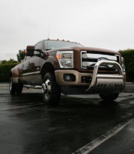 Ford Superduty 2011 Ford Super Dutybig Horn 4Inch W/Stainless Skid Grille Guards & Bull Bars Stainless Products Performance 2011