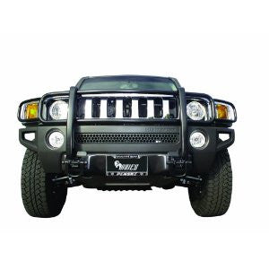 Hummer H2 03-09 Gmc H2 One Piece Grill/Brush Guard Black Grille Guards & Bull Bars Stainless Products Performance 2003,2004,2005,2006,2007,2008,2009