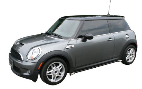 Mini Cooper Convertible Mini Cooper Convertible Siderail Black W/ Stainless Trim Nerf Bars & Tube Side Step Bars Stainless Products Performance 1 Set Rh & Lh