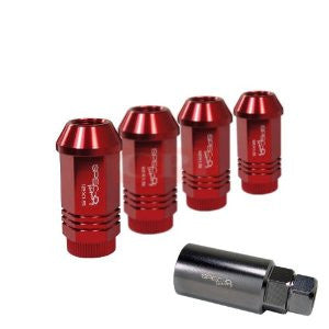 All All All Wheel Lug Nut Set 12X1.5 Red 4Pcs