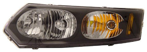 xsaturn ion 03-07 head lamps / lights 4dr black amber euro performance 1 set rh & lh