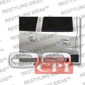 Chevrolet 2002-2006 Avalanche Chrome Door Handle Cover Panel Only No Passenger Side Keyhole Performance