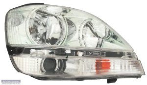 Lexus 01-03 Rx300  Headlight Assy Rh  Chrome Bezel