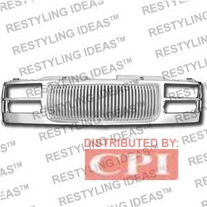 Gmc 1988-1998 Gmc C/K Chrome Vertical Bar Abs Grille Performance