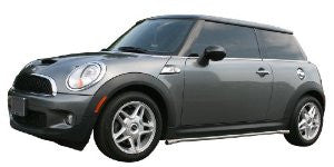 Mini Cooper Convertible 04-08 Mini Cooper Convertible Siderail Stainless Steel 1.5Inch Od Nerf Bars & Tube Side Step Bars Stainless