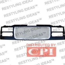 Gmc 1988-1998 Gmc C/K Black/Chrome Horizontal Wave Bar Abs Grille Performance