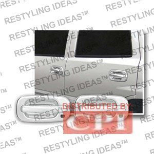Chevrolet 2002-2006 Avalanche Chrome Door Handle Cover Panel Only W/ Passenger Side Keyhole Performance