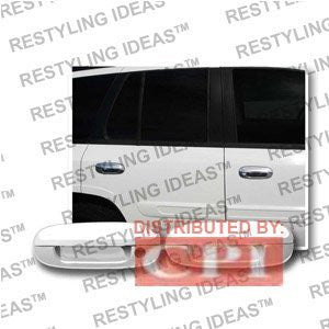 Isuzu 2003-2008 Ascender Chrome Door Handle Cover No Passenger Side Keyhole Performance