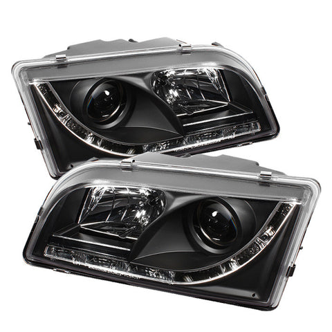 Volvo S40 97-03 Projector Headlights - DRL - Black - High H1 (Included) - Low H1 (Included)