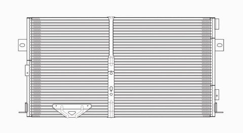 Dodge 99-00 Dodge Caravan/Voyager/Town & Country 2.4L Ac Condenser (Pfc) (A/F4955) (1) Pc Replacement 1999,2000