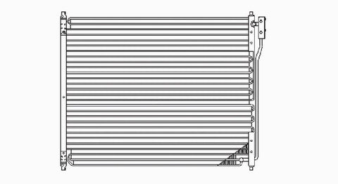 Ford 99-05 Ford F-250/F-350 (Hvy/Superduty) (Factory Instal) Ac Condenser (Serp) (1) Pc Replacement 1999,2000,2001,2002,2003,2004,2005