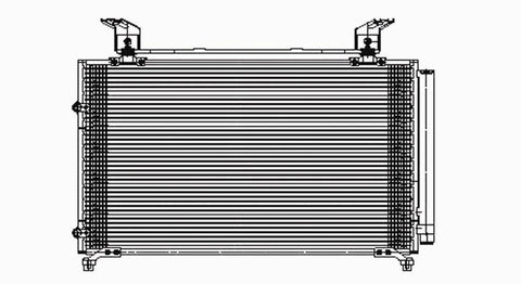 Honda 99-04 Honda Odyssey W/ R/D Ac Condenser (Pfc) (1) Pc Replacement 1999,2000,2001,2002,2003,2004