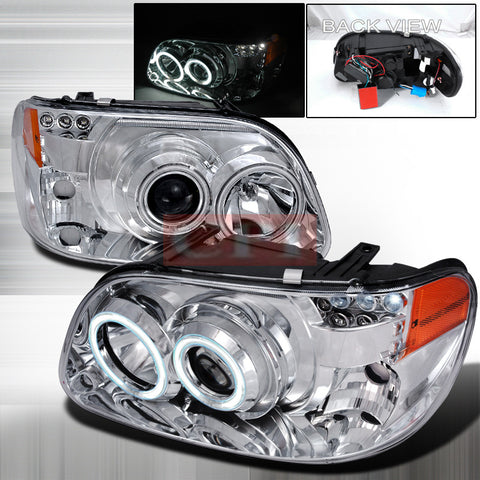 FORD 1995-2001 FORD EXPLORER PROJECTOR HEAD LAMPS/ HEADLIGHTS 1 SET RH&LH   1995,1996,1997,1998,1999,2000,2001