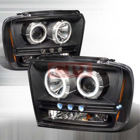 FORD 2005-2007 FORD F250 PROJECTOR HEAD LAMPS/ HEADLIGHTS CCFL 1 SET RH&LH   2005,2006,2007