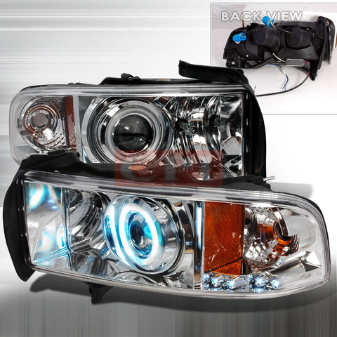 Dodge 1994-2001 Dodge Ram Projector Head Lamps/ Headlights-w