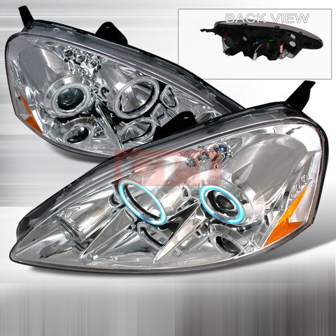 ACURA 2005-2006 ACURA RSX HALO PROJECTOR HEAD LAMPS/ HEADLIGHTS 1 SET RH&LH   2005,2006