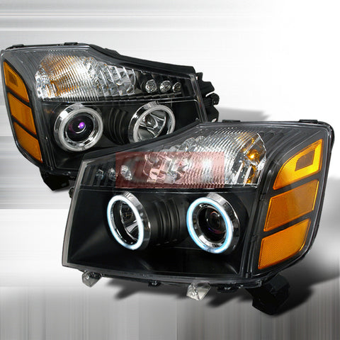NISSAN 2004-2006 NISSAN TITAN HALO HEADLIGHTS - BLK 1 SET RH&LH PERFORMANCE 2004,2005,2006
