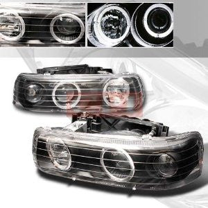 CHEVROLET 1999-2002 CHEVY SILVERADO HALO PROJECTOR HEAD LAMPS/ HEADLIGHTS -BC 1 SET RH&LH   1999,2000,2001,2002