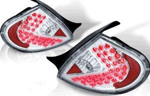 00-02 DODGE NEON LED TAIL LIGHT - CHROME/CLEAR performance