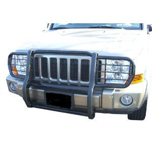 Chevrolet Ck 1500 Pickup 88-98 Chevrolet C/K One Piece Grill/Brush Guard Black Grille Guards & Bull Bars Stainless