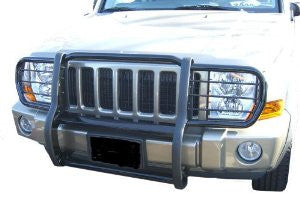 Hummer H2 03-08 Gmc H2 Deluxe Grille/Brush Guard Stainless Grille Guards & Bull Bars Stainless Products Performance 2003,2004,2005,2006,2007,2008