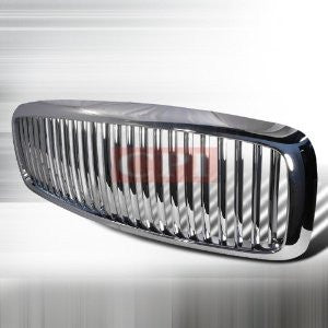 Dodge 2002-2005 Dodge Ram Pick Up Vertical Grille - Chrome Performance-v