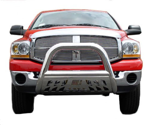 Chevrolet Ck 1500 Pickup Chevy Ck 1500 Bull Bar 3Inch Black With Stainless Skid Grille Guards & Bull Bars Stainless Products Performance