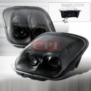 CHEVROLET 1997-2004 CHEVY CORVETTE PROJECTOR HEAD LAMPS/ HEADLIGHTS 1 SET RH&LH   1997,1998,1999,2000,2001,2002,2003,2004