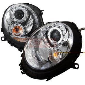 Mini 07-11 Cooper Chrome Housing Projector Headlights Performance 1 Set Rh & Lh 2007,2008,2009,2010, 2011