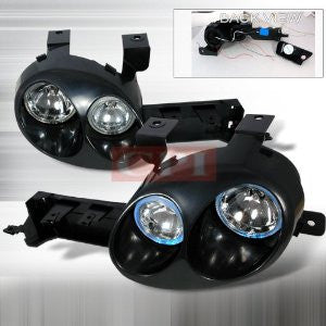 DODGE 1995-1999 NEON RALLI-STYLE HALO PROJECTOR HEAD LAMPS/ HEADLIGHTS 1 SET RH&LH   1995,1996,1997,1998,1999