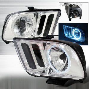 Ford 2005-2007 Ford Mustang Ccfl Halo Headlights/ Head Lamps-Euro Style