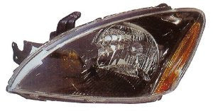 Mitsubishi Lancer 04-07 Sedan Headlight  (Rally Model)W/Abs(Black Rim) Head Lamp Passenger Side Rh