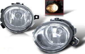 01-05 bmw e46 oem style fog light (clear) performance 1 set rh & lh 2001,2002,2003,2004,2005-q