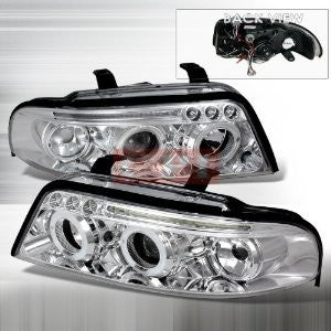 AUDI 2000-2001 AUDI A4 PROJECTOR HEAD LAMPS/ HEADLIGHTS 1 SET RH&LH   2000,2001