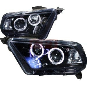 Ford Mustang Projector Headlight Gloss Black Housing Smoke Lens Halogen Model Only