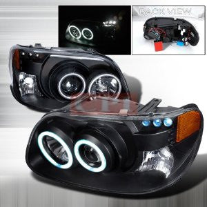 Ford 1995-2001 Ford Explorer Projector Head Lamps/ Headlights 1 Set Rh&Lh Performance 1995,1996,1997,1998,1999,2000,2001-e