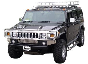 HUMMER H2 03-09 GMC H2 SUT Deluxe 1 PC  /BRUSH GUARD Stainless SUT  Guards & Bull Bars Stainless