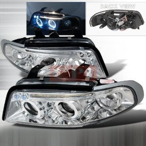 AUDI 1996-1999 AUDI A4 PROJECTOR HEAD LAMPS/ HEADLIGHTS 1 SET RH&LH   1996,1997,1998,1999