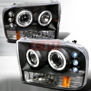 Ford 1999-2004 Ford F250 Projector Head Lamps/ Headlights Led 1 Set Rh&Lh Performance 1999,2000,2001,2002,2003,2004