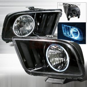 Ford 2005-2007 Ford Mustang Ccfl Halo Headlights/ Head Lamps-Euro Style-a