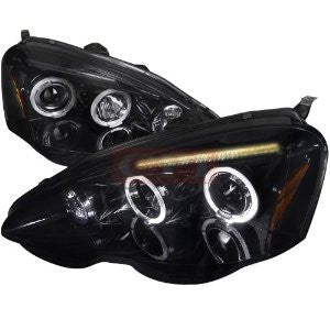 Acura 02-04 Rsx Smoked Lens Gloss Black Housing Projector Headlights Performance 1 Set Rh & Lh 2002,2003,2004