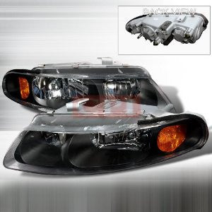 DODGE 1997-2000 DODGE AVENGER CRYSTAL HEADLIGHTS/ HEAD LAMPS-EURO STYLE   1997,1998,1999,2000