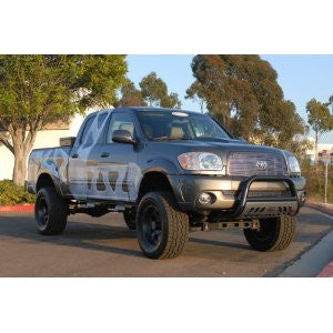 TOYOTA TACOMA 05-10 Toyota Tacoma BLACK BULL BAR 3inch WITH STAINLESS SKID  Guards & Bull Bars Stainless