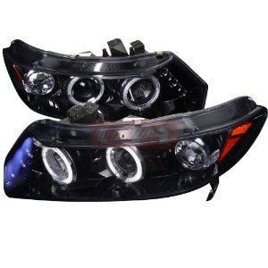 Honda Civic Smoked Lens Gloss Black Housing Projector Headlights