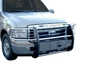 Hummer H2 03-09 Gmc H2 Sut Deluxe One Piece Grill/Brush Guard Stainless Sut Grille Guards & Bull Bars Stainless